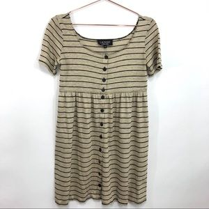 Laundry by Shelli Segal Baby Doll striped dress